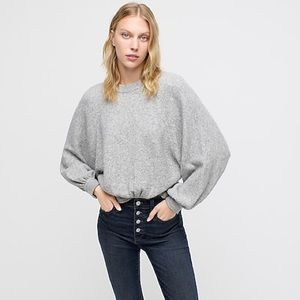 J. Crew Supersoft Yarn Sweater with Puff Sleeves